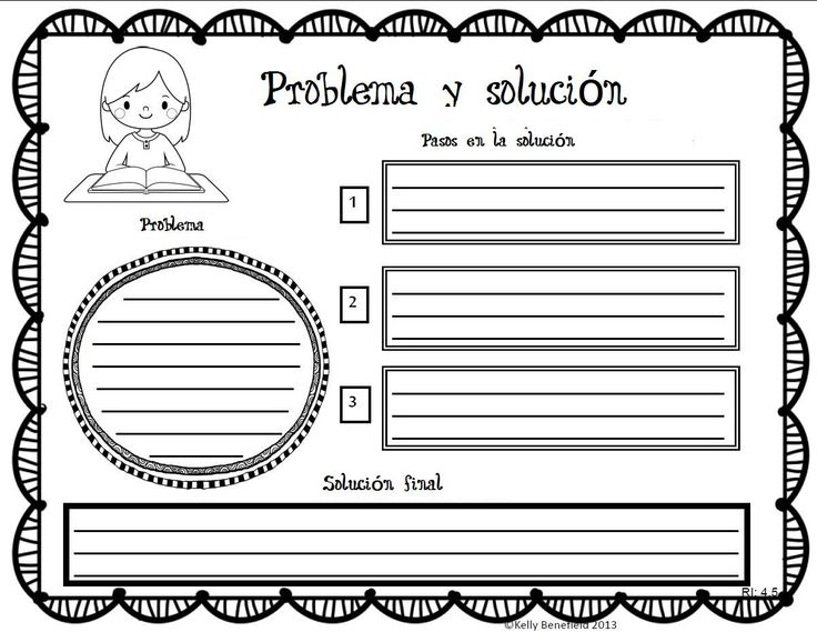 Organizador textual problema-solución. Adaptación. Original en inglés en esta misma página.