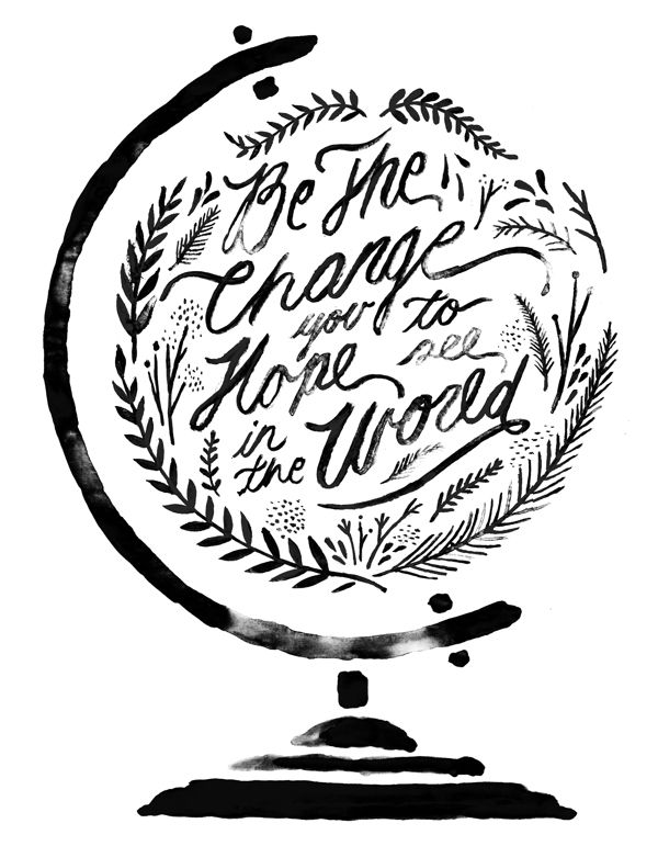 Ink illustration and hand lettering  Inspiração Tipográfica #179 - Choco la Design | Choco la Design