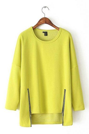 Citron Zipper pullover
