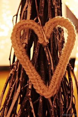 suklaamarenki: virkatut sydämet