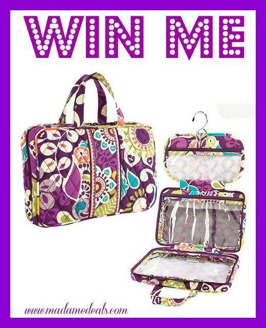 Win a Vera Bradley Hanging Travel Organizer! http://madamedeals.com/win-vera-bradley-hanging-travel-organizer/ #giveaway #inspireothers