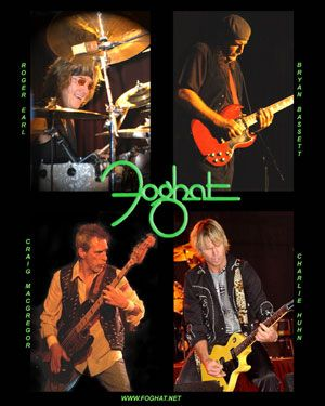 Foghat - Classic rock music poster ☮~ღ~*~*✿⊱╮ レ o √ 乇 !!
