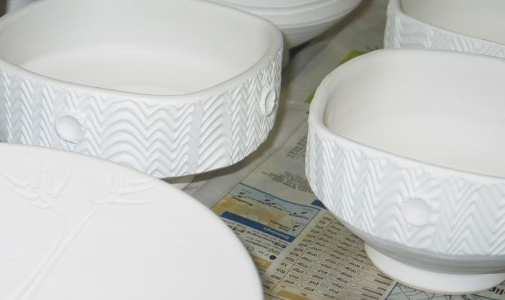 Bisqued white stoneware