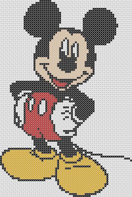 Mickey Mouse Cross Stitch Chart Pattern ONLY by GeekStitchSK, $3.00