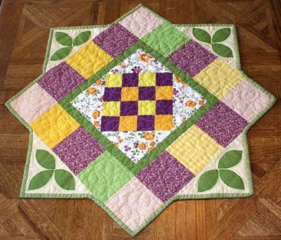 Table+Runner++Summer+Colors+Quilted+and+by+kreationsbykona+on+Etsy,+$39.99