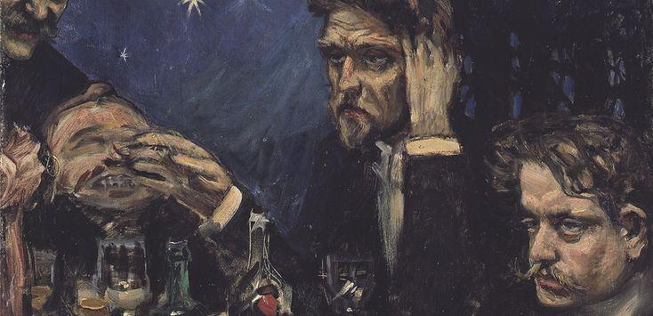 Akseli Gallen-Kallela / Symposion/ Oil on canvas 1894 / sketch