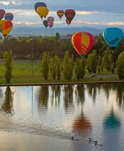 Balloon reflection in Canberra - Australia
