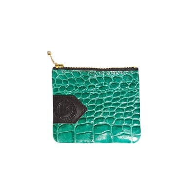 Emerald Croc Purse - New Kid