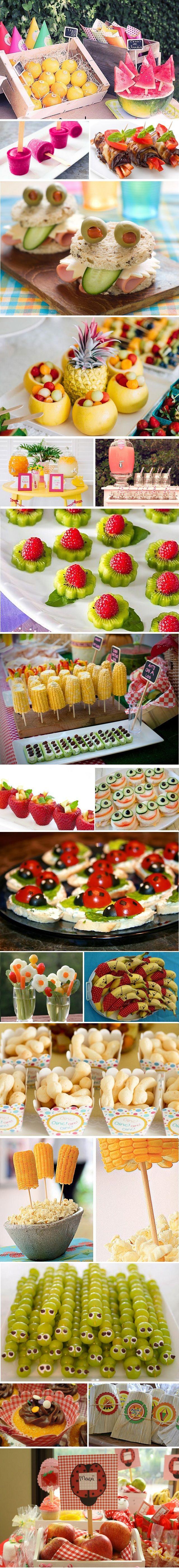 Aniversário de criança com comida saudável!