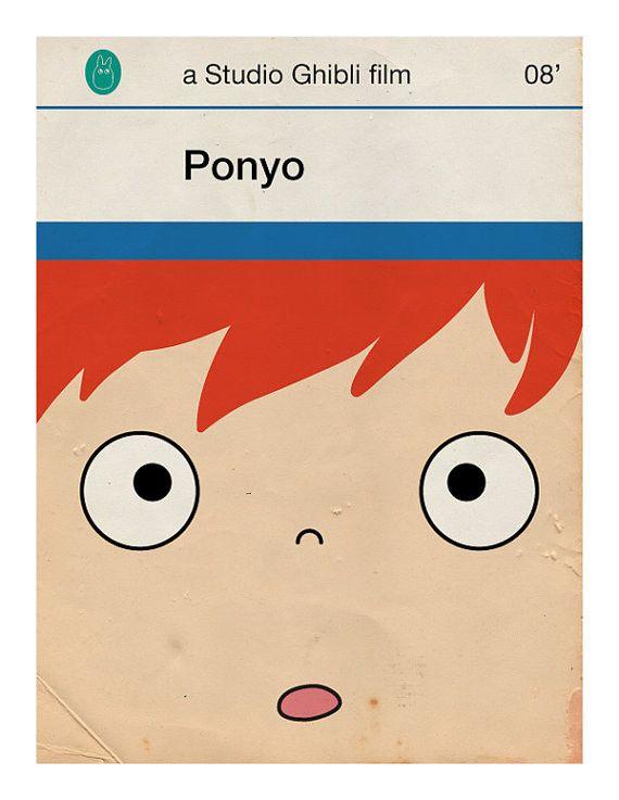 Ponyo - Gallery of Hayao Miyazaki's Movies Reimagined As Penguin Books