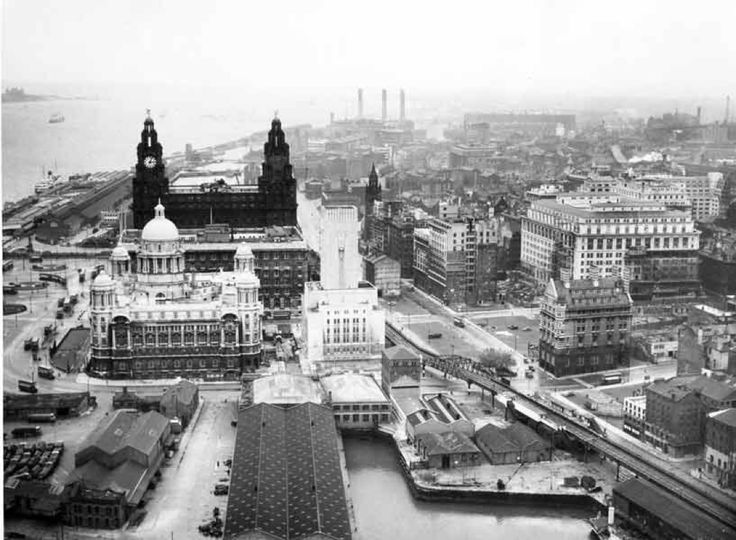 Liverpool waterfront, 1952, wow, so different but so similar.