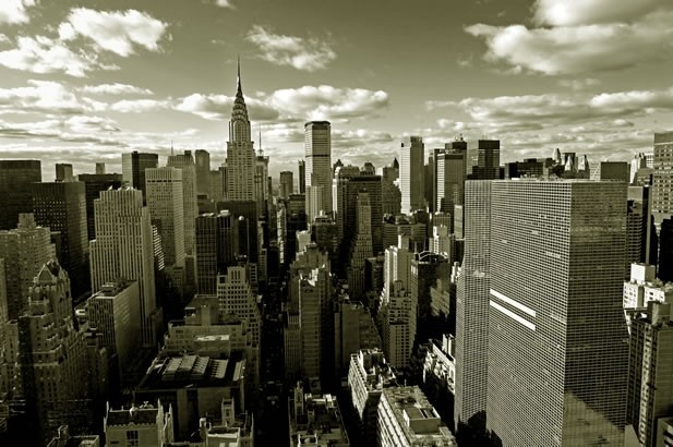 modern canvas - free worldwide shipping - New York Cityscape Sepia, $199.99 (http://www.moderncanvas.com.au/new-york-cityscape-sepia/)