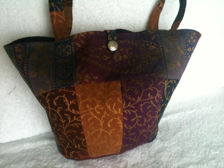 Patchwork Designer Fabric Hobo Bag.
