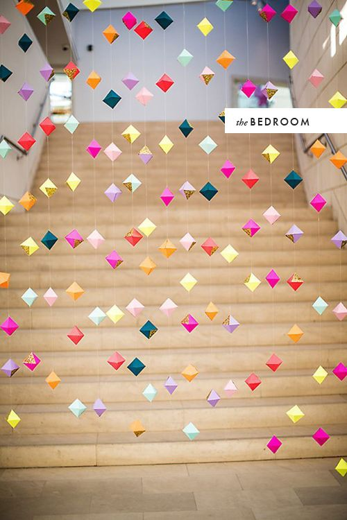 Diy room to room origami birthday ideas pinterest for Origami decorations for your room