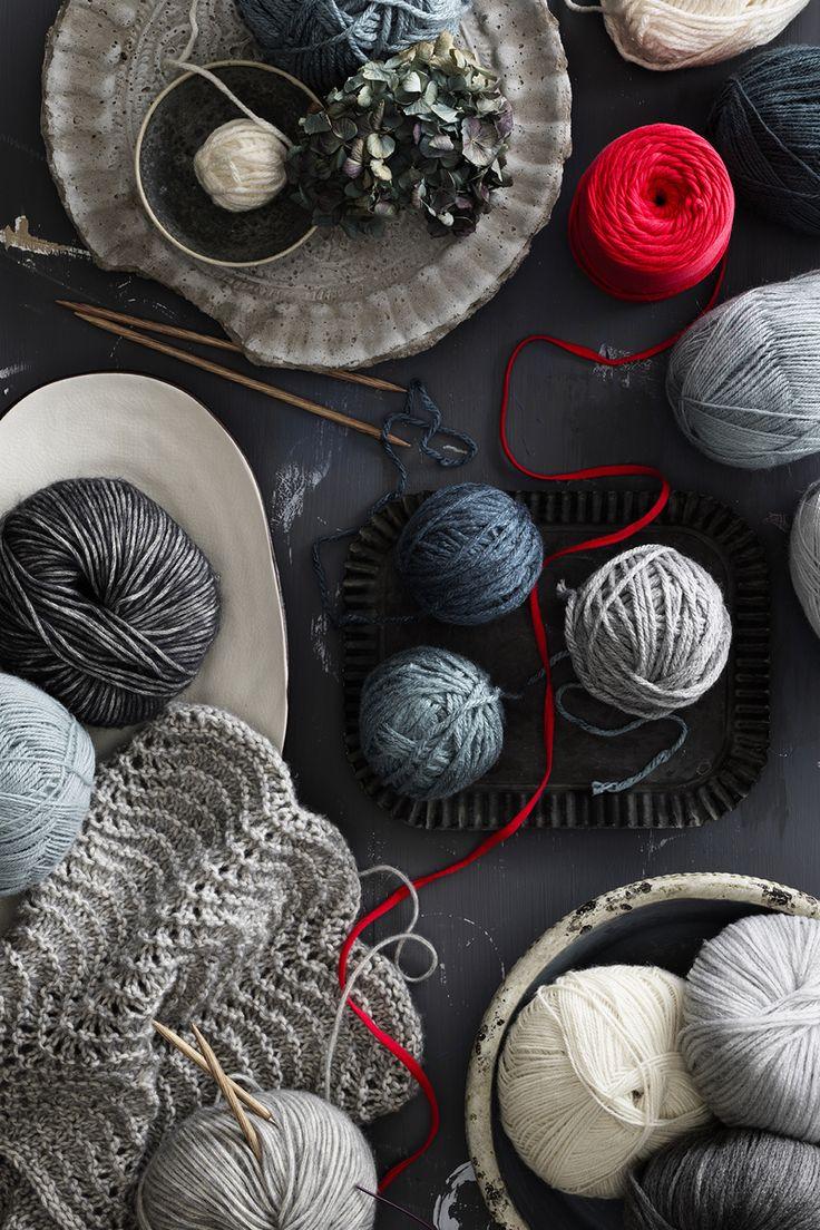 www.panduro.com #yarn #DIY #blue #grey #red