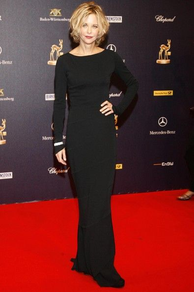 Meg flaunted her sassy side in a long sleeve curve hugging black dress while hitting the Bambi Awards in Germany. Description from stylebistro.com. I searched for this on bing.com/images
