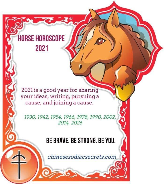 Horse Chinese Horoscope 2021 Horoscope Year Of The Horse Horses