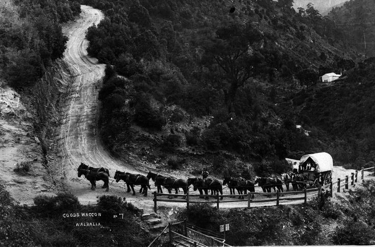 1900 Goods Wagon in Walhalla. VicRoads Centenary 1913-2013. www.vicroads.vic.gov.au/centenary