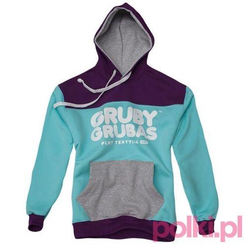 Kolorowa bluza z kapturem Gruby Grubas #polkipl