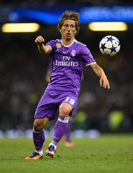 Luka Modric of Real Madrid in action during the UEFA Champions League Final between Juventus and Real Madrid at National Stadium of Wales on June 3, 2017 in Cardiff, Wales.