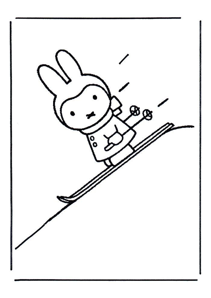 ski inkleurplaat