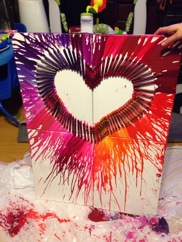 Melted crayon art by me, just experimenting with Pinterest ideas