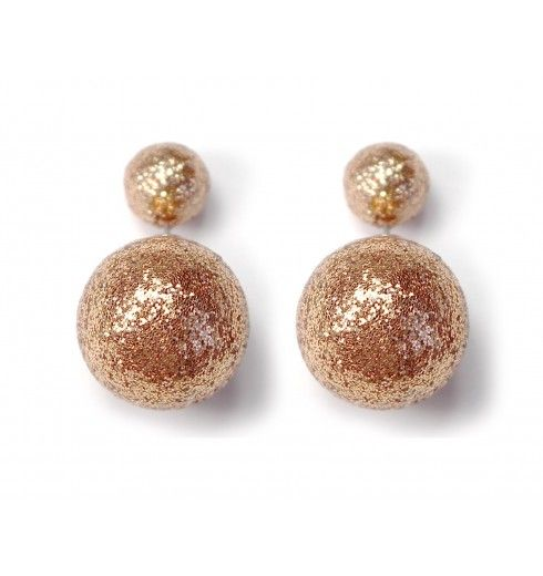 Náušnice dvojité Discoball #earrings #fashionjewelry #fashionjewellery #costumejewelry #costumejewellery #bijouterie #bijoux #fashion #style #accessories