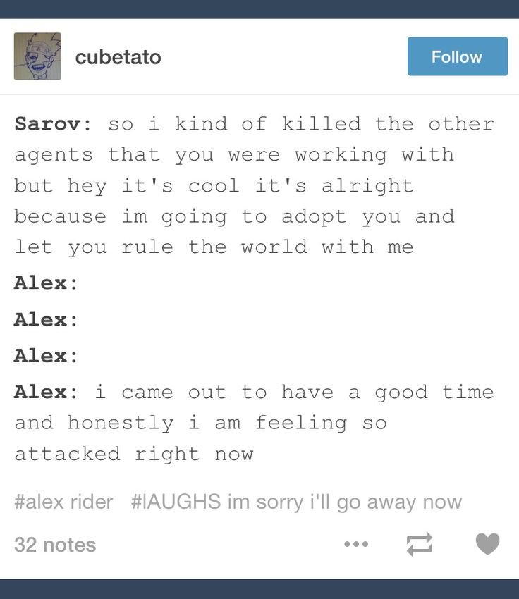 Yay the Alex Rider fandom does indeed exist!!!!!!