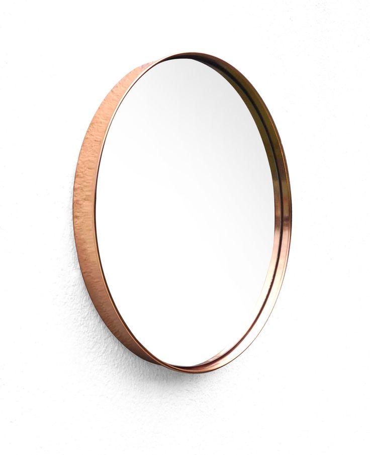 Espejo Circular Cobre Diámetro: 51 cm $1850* Precio en efectivo.