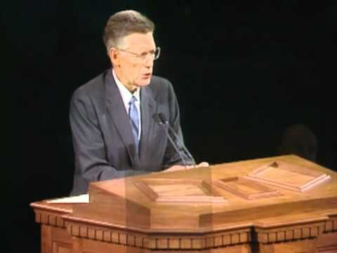 This was one of the Twelve Apostles of the Lord Jesus in 1985 who served The Master faithfully, he passed on just a few days after this talk which makes his last statement even more powerful! This was a very powerful talk! Bruce R. McConkie's final testimony - April, 1985
