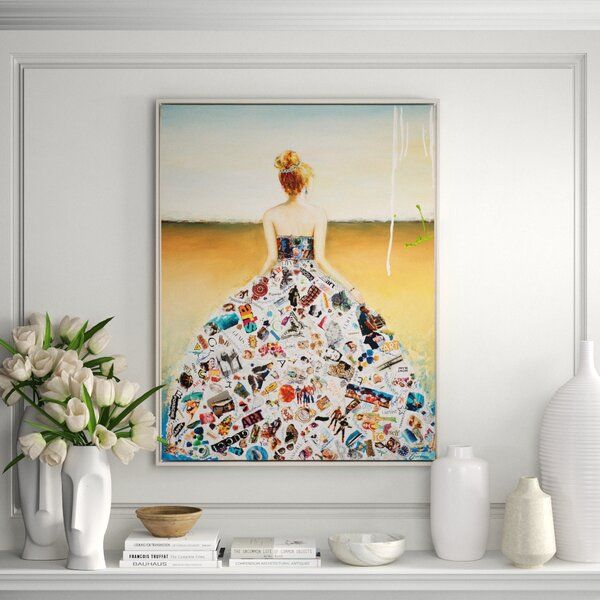 Smart Beauty By Gardani Floater Frame Graphic Art Print On Canvas Oversized Wall Art Graphic Art Print Graphic Art
