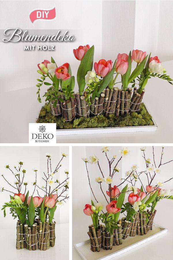 Diy Ausgefallene Blumendeko Fur Den Tisch Selberm Ostern Dekoration Garten Beton In 2020 Flower Decorations Unusual Flowers Tulip Decor