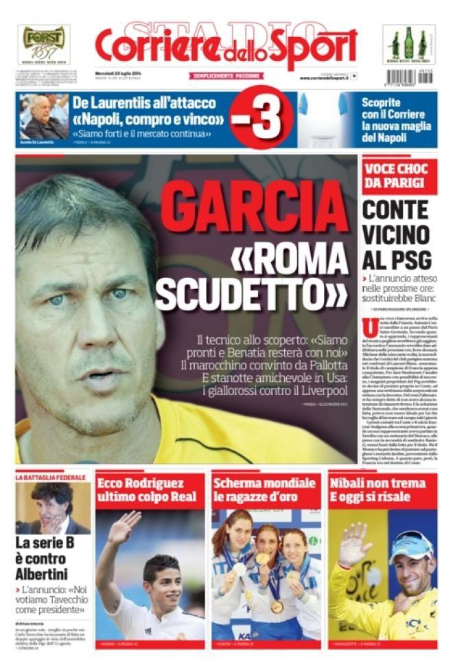 Quotidiani Sport 23Lug #TuttoSport #As #Marca #Gazzetta #Romanista #Equipe #Corriere #MundoDeportivo