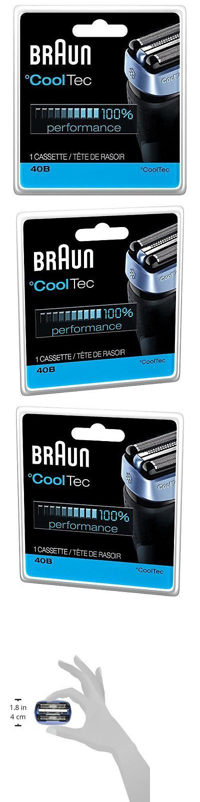 Shaver Parts and Accessories: Braun 40B Cooltec Shavers Series Replacement Shaving Foil Head And Cutter New BUY IT NOW ONLY: $36.35