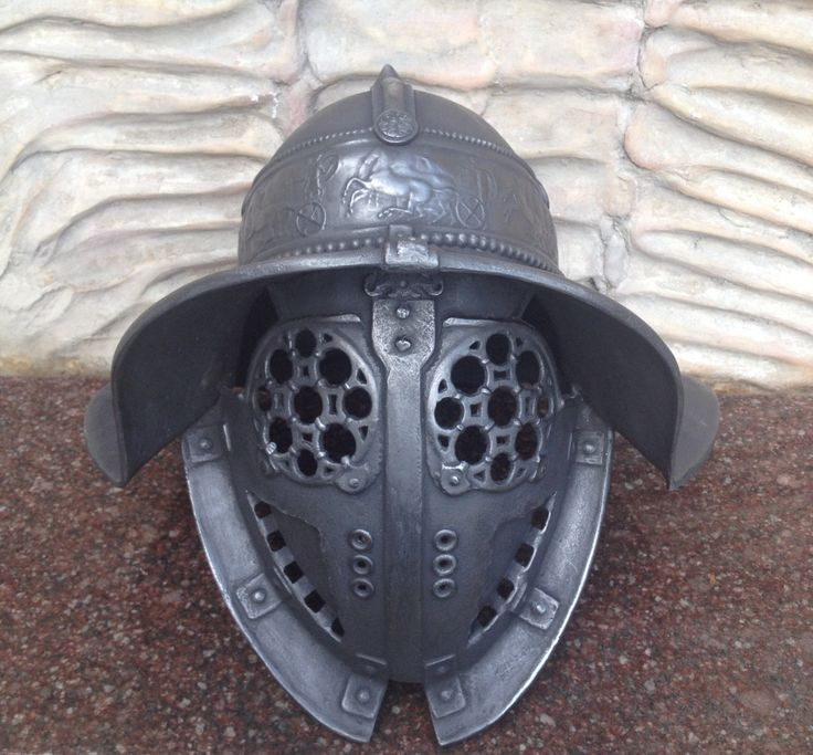 A personal favorite from my Etsy shop https://www.etsy.com/listing/271297339/gladiator-helmetancient-rome-helmet