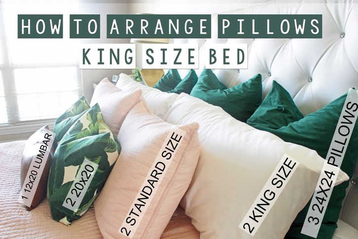 25 best ideas about pillow arrangement on pinterest bed for Dreamfinity king size pillow
