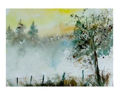 Watercolor Mist Giclee Print by Ledent at Art.com