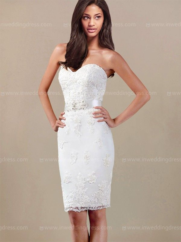 Strapless Short Wedding Dress ST001