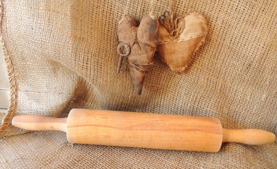 French Vintage Vintage Wooden Kitchen Roller Vintage