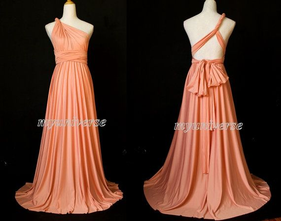 Hey, I found this really awesome Etsy listing at https://www.etsy.com/listing/199074259/coral-bridesmaid-dress-infinity-dress