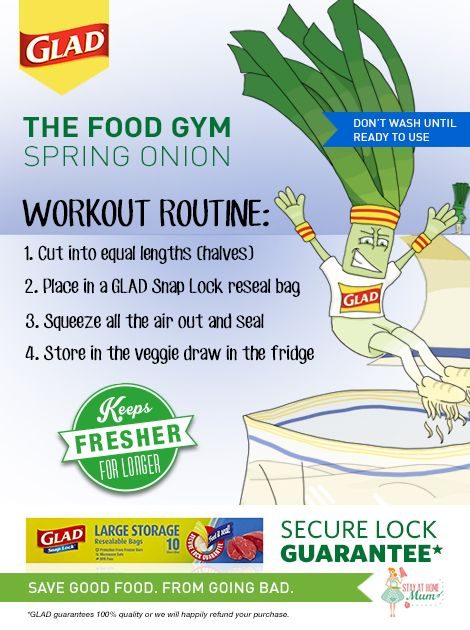 The Food Gym - How to Keep Spring Onions Fresh #FoodGym