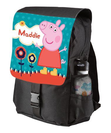 Love this Peppa Pig Black Lovely Garden Personalized Backpack on #zulily! #zulilyfinds