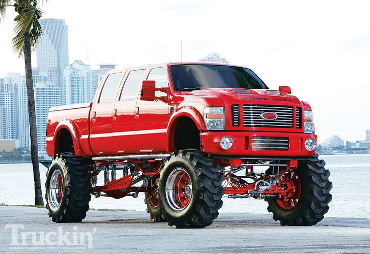 Now this is a truck! Got any fires to put out, cause in this fire engine red monster I could be there in a flash...