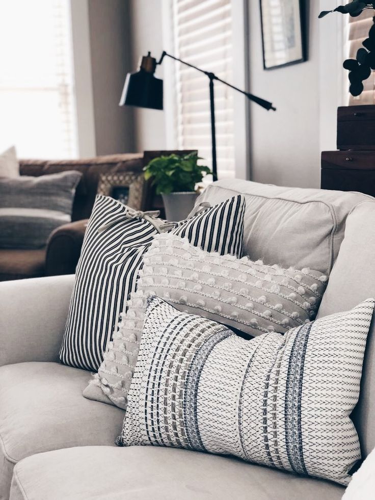 Textured Throw Pillows Home Style Home Living Room Remodel