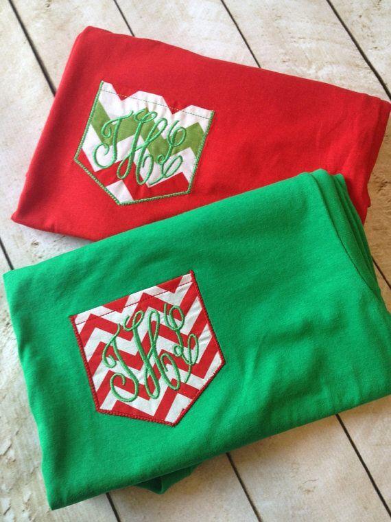Cute monogrammed christmas shirts.