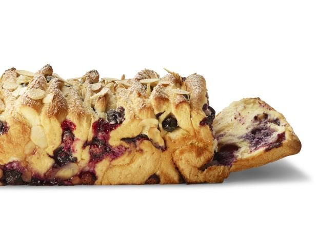 Get Blueberry-Cream Cheese Pull-Apart Bread Recipe from Food Network
