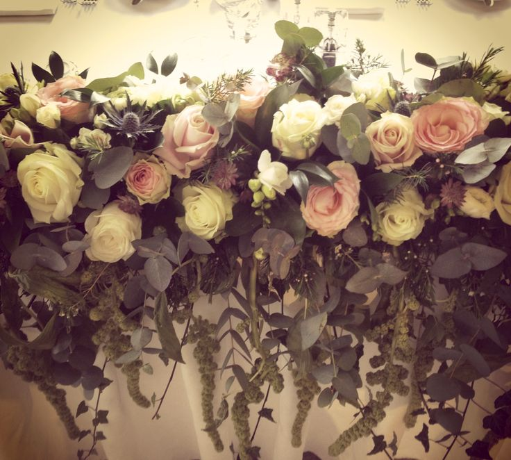 Wedding Top Table Flower Display