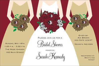 Florida State University Shower Invitations: Shower Ideas, Showers, Wedding Shower, Wedding Ideas, Catalog, Dream Wedding, Bridal Shower Invitations, Products, Future Wedding