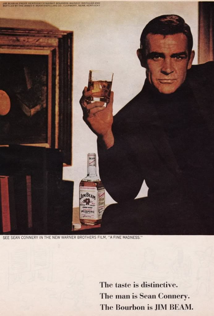 Jim Bean, 1966, Yes, Yes, Yes! The real Scotchman likes Bourbon!
