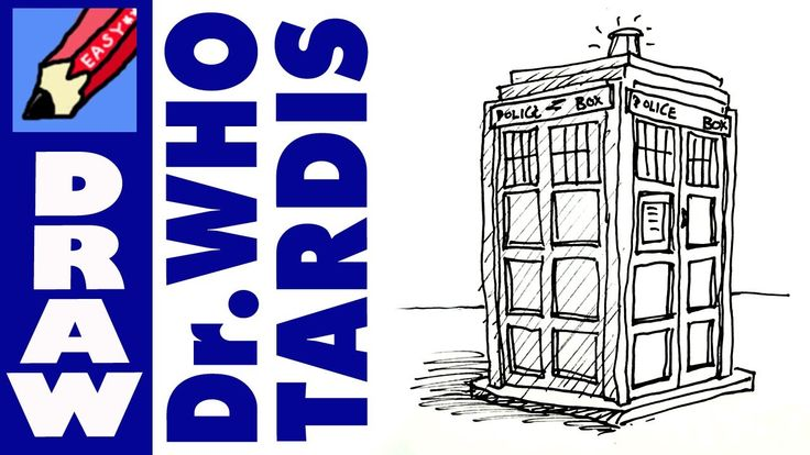 How to draw the TARDIS Real Easy